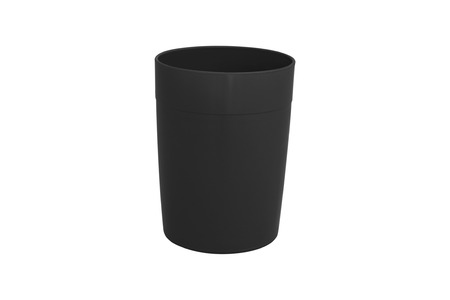 cup plastic isolated on white background.