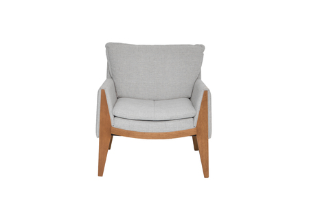 green armchair. Modern designer chair on white background. Texture chair.