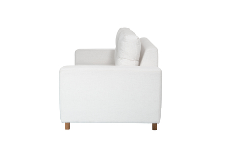 modern white fabric couch sofa   isolated on white background
