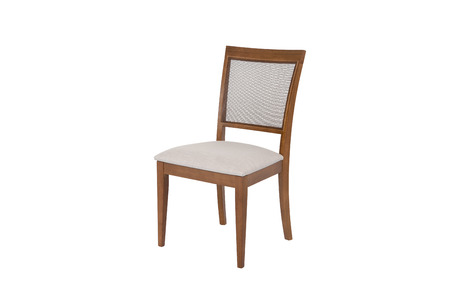 Wood chair. Object isolated of white background Banco de Imagens