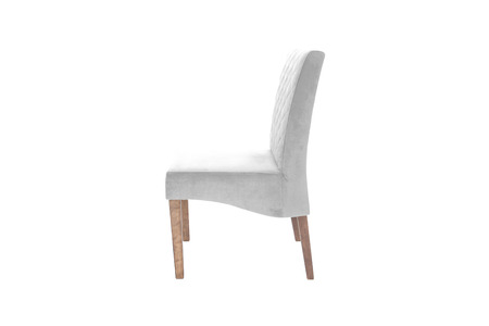 Color wood chair. Object isolated of white background Banco de Imagens