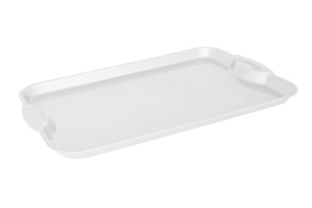 Color plastic Tray salver isoleted on white background Banco de Imagens