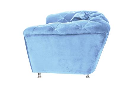 Color armchair. Modern designer chair on white background. Texture chair. Banco de Imagens