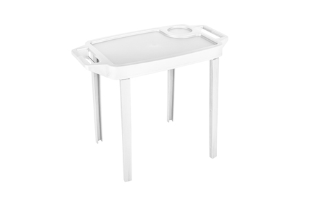 Color plastic table Tray salver isoleted on white background