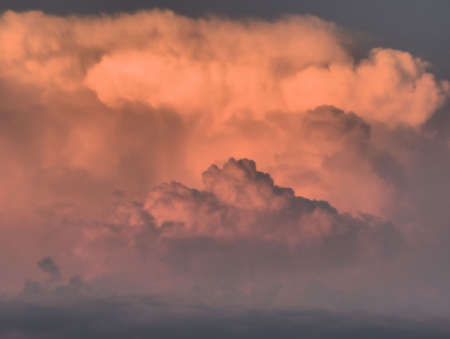 horizontals: clouds high up in the sky Stock Photo