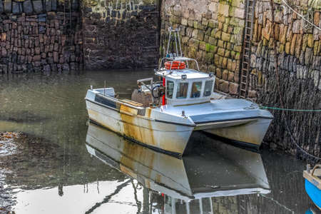 Lobster fishing boat in an east neuk harbour