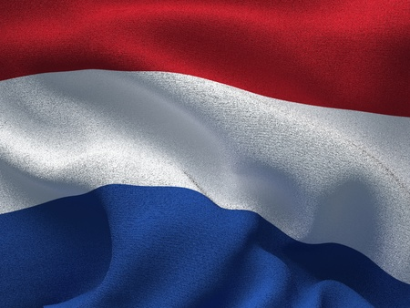 Texture of a fabric with the image of the flag of Netherlands, waving in the wind. Reklamní fotografie