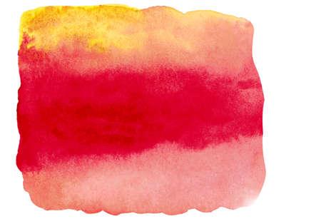 Coup de pinceau aquarelle en couleur automne isolé sur blanc bakground. Banque d'images