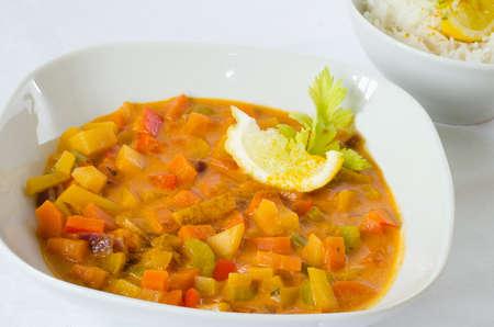 rutabaga: Rutabaga (swede) curry with coconut rice