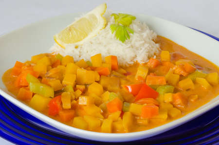 swede: Rutabaga (swede) curry with coconut rice