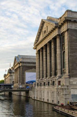 ishtar: BERLIN-SEPT 22  Facade of the Pergammonmuseum on September 22, 2012 in Berlin  The Pergammon Museum holds an world-famous exhibition of Greek, Roman, Babilonian and Oriental art