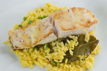 Codfish with rice photo