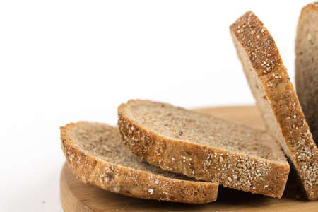 Healthy chrono bread isolated over white background. 免版税图像