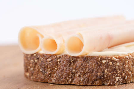 Chicken salami on the chrono bread.
