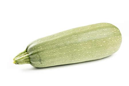 Fresh zucchini isolated over white background.