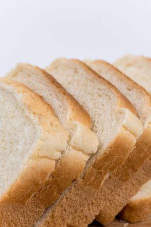 Toast bread on the wooden board. Stockfoto