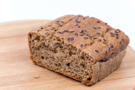 Chrono homemade bread with copy space.