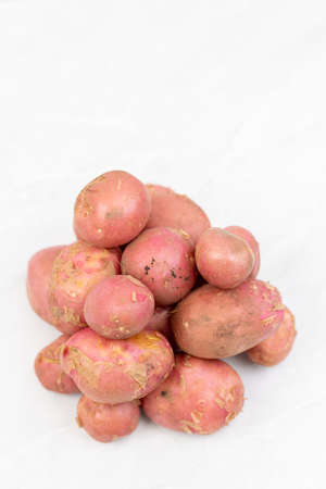 Young Red Potatoes with copy space.