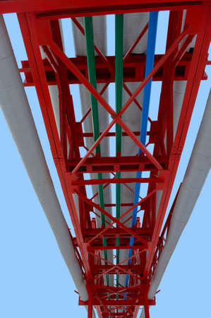 Trunk pipeline isolated on the blue sky with clip path. Stock Photo - 4679941