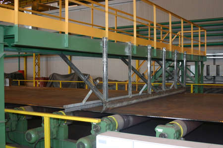 ferrous: Sheet mill in ferrous metallurgy work produces sheets of steel.
