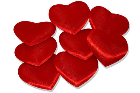 Heap of red hearts  photo