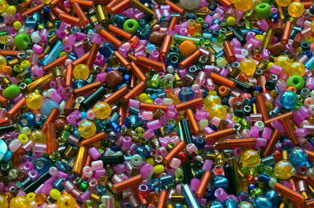 Heap of multicolor beads different forms Stock Photo - 4952665