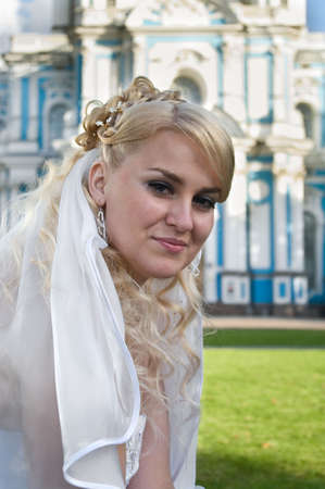 Beauty bride the blond. Portrait Stock Photo - 6106620