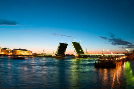 Palace Bridge, Dvortsoviy Most is a road traffic and foot bascule bridge spanning the Neva River in Saint Petersburg between Palace Square and Vasilievsky Island photo