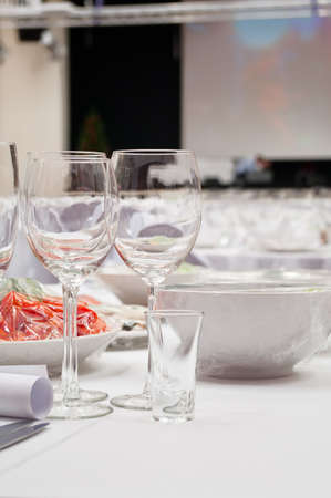 Formal dinner service as at a wedding, banquet Stock Photo - 7566629