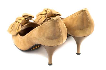 Female shoes isolated on white background photo