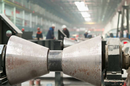 Rolling forming roll metal works on manufacture of pipes photo