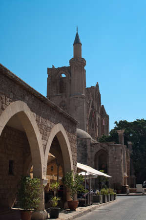 occupied: Lala Mustafa Pasha Mosque in north Cyprus occupied by the Turks, Famagusta