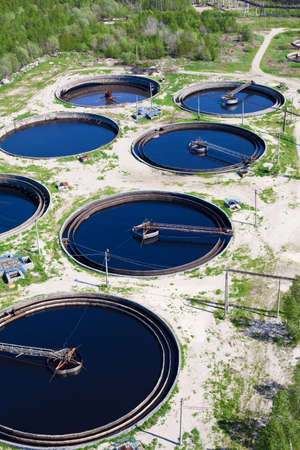 Water recycling on sewage treatment station Stock Photo - 9925252