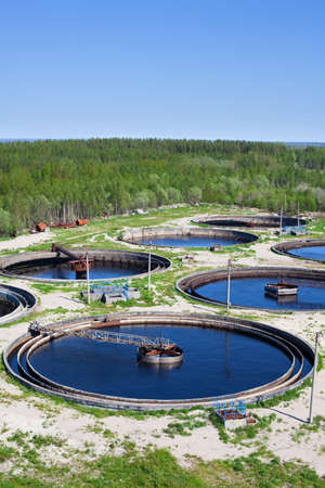 Water recycling on sewage treatment station Stock Photo - 9925501