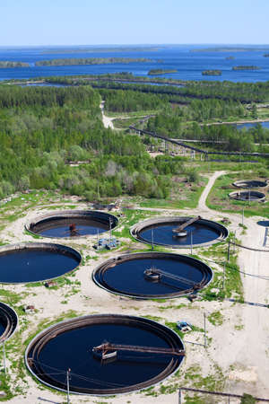 Water recycling on sewage treatment station Stock Photo - 9925248