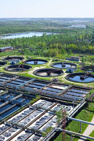 depuradoras: Agua de reciclaje en la estaci�n de tratamiento de aguas residuales