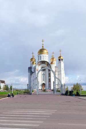 chelyabinsk: MAGNITOGORSK, RUSSIA - SEPTEMBER 27: Church of the Ascension of the Christ - Orthodox Church on September 27, 2011 in Magnitogorsk, Russia.