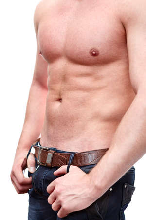 One handsome Caucasian muscular Stock Photo - 12912772