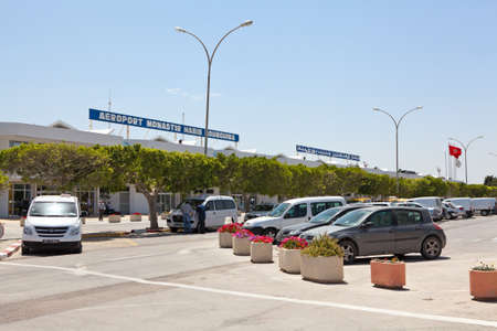 MONASTIR, TUNISIA - CIRCA APRIL, 2012: Habib Bourguiba International airport in Monastir, Tunisia. Parking area with cars on circa April, 2012 in Monastir, Tunisia