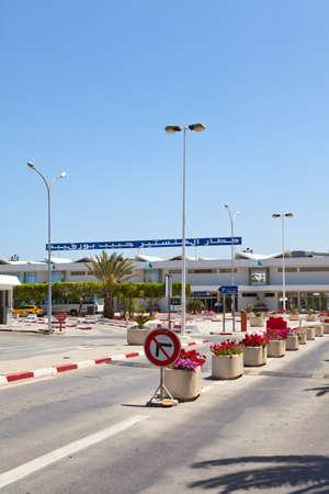 MONASTIR, TUNISIA - CIRCA APRIL, 2012: Habib Bourguiba International airport. Parking zone on circa April, 2012 in Monastir, Tunisia