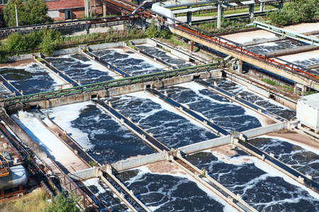 Removing chemical and biological contaminants on sewage treatment plant 新闻类图片