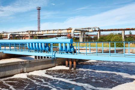 La aireación de las aguas residuales en la planta de tratamiento de aguas residuales