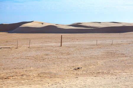 Deserted area in Sahara desert with dunes on background Stock Photo - 16797644