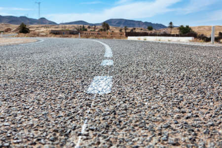 Close up of asphalt road with white lines Stock Photo - 16797643