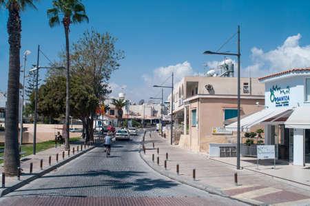 napa: LARNACA, CYPRUS - CIRCA SEPTEMBER, 2010: Streets of Larnaca city in the velvet season, on circa September, 2010 in Larnaca, Cyprus. Editorial