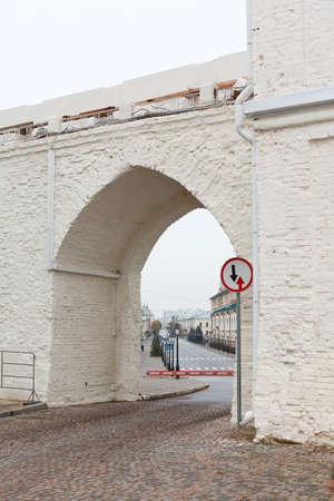 tatarstan: KAZAN CITY, RUSSIA - SEPTEMBER 25: Passage gates in Spasskaya tower in Kazan Kremlin area on September 25, 2011 in Kazan city, Russia. Kazan Kremlin is Russian the chief historic citadel of Tatarstan Editorial