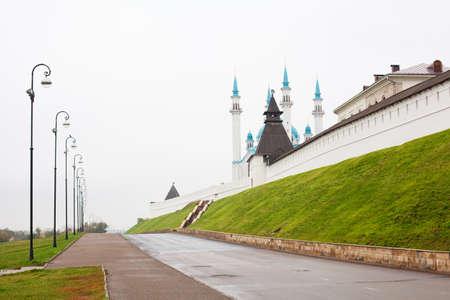 spassky: Walls of Kol Sharif mosque in Kazan Kremlin in Kazan city, Tatarstan, Russia