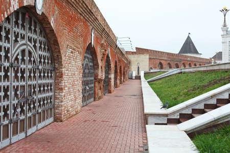 tatarstan: Prison cells near Kul Sharif mosque in Kazan Kremlin in Kazan city, Tatarstan, Russia Editorial