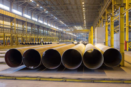 Large-diameter pipelines are in the production shop