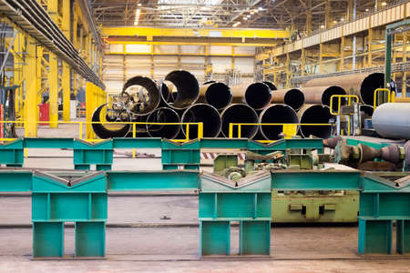 Pipe rolling plant equipment and finished products warehouse photo